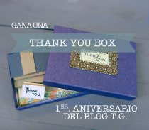 Thank you box by Tinta Gris